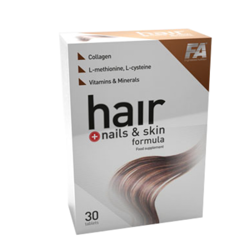 FITNESS AUTHORITY Hair + Nails & Skin Formula 30 kaps