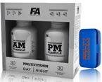 FITNESS AUTHORITY MULTIVITAMIN AM + PM 180 KAPS + PILLBOX